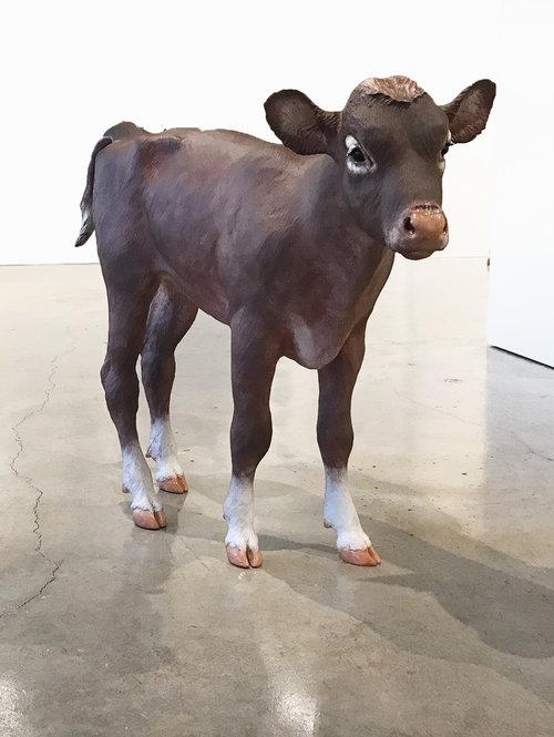 Joe Fafard, Austin. powder coated bronze, 39.5 x 53 x 13 inches, 2017, ed. 4 of 5