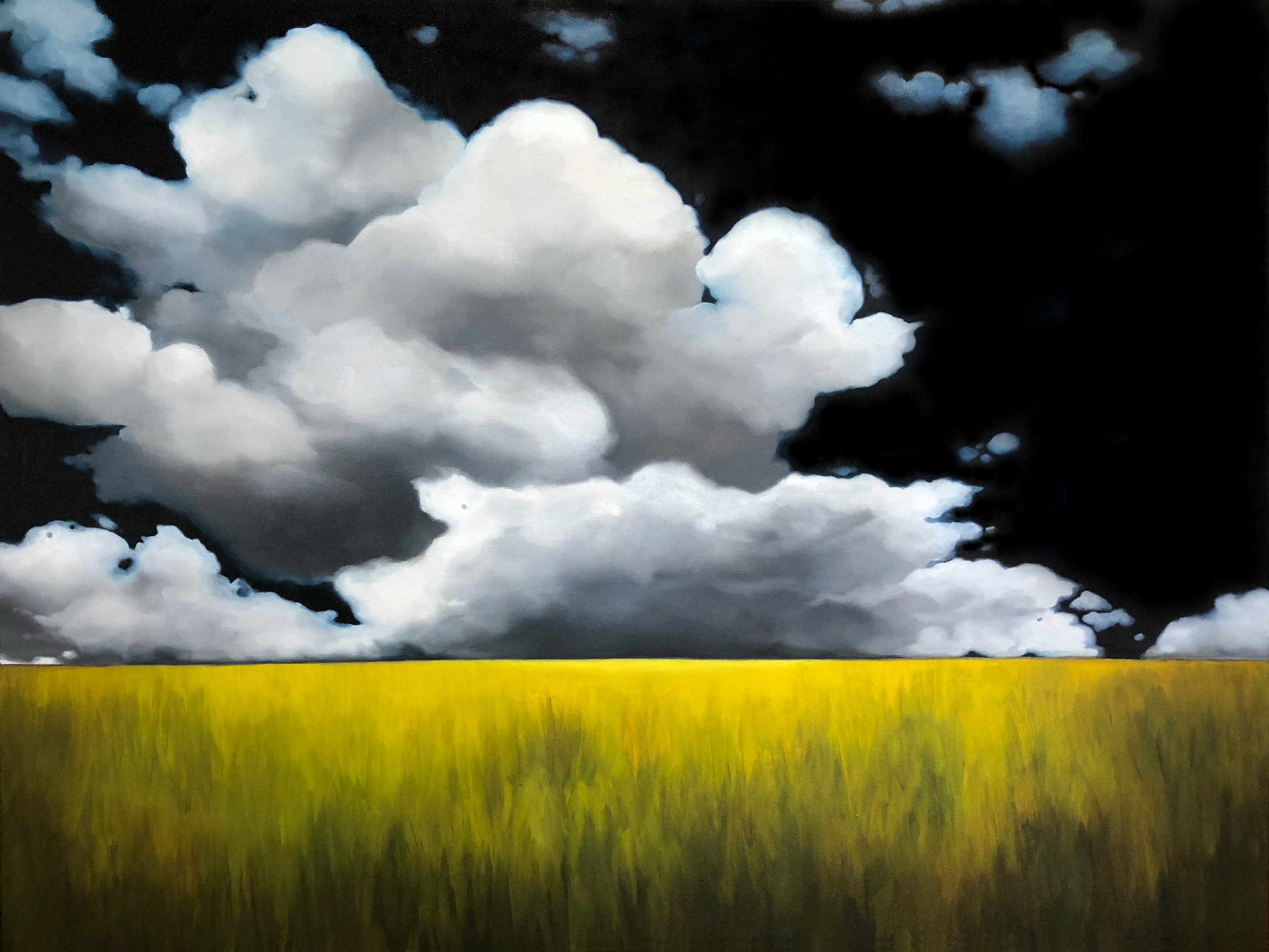 Erin Ross, Dreamscapes (but big) 2, acrylic & oil on canvas, 36 x 48 inches