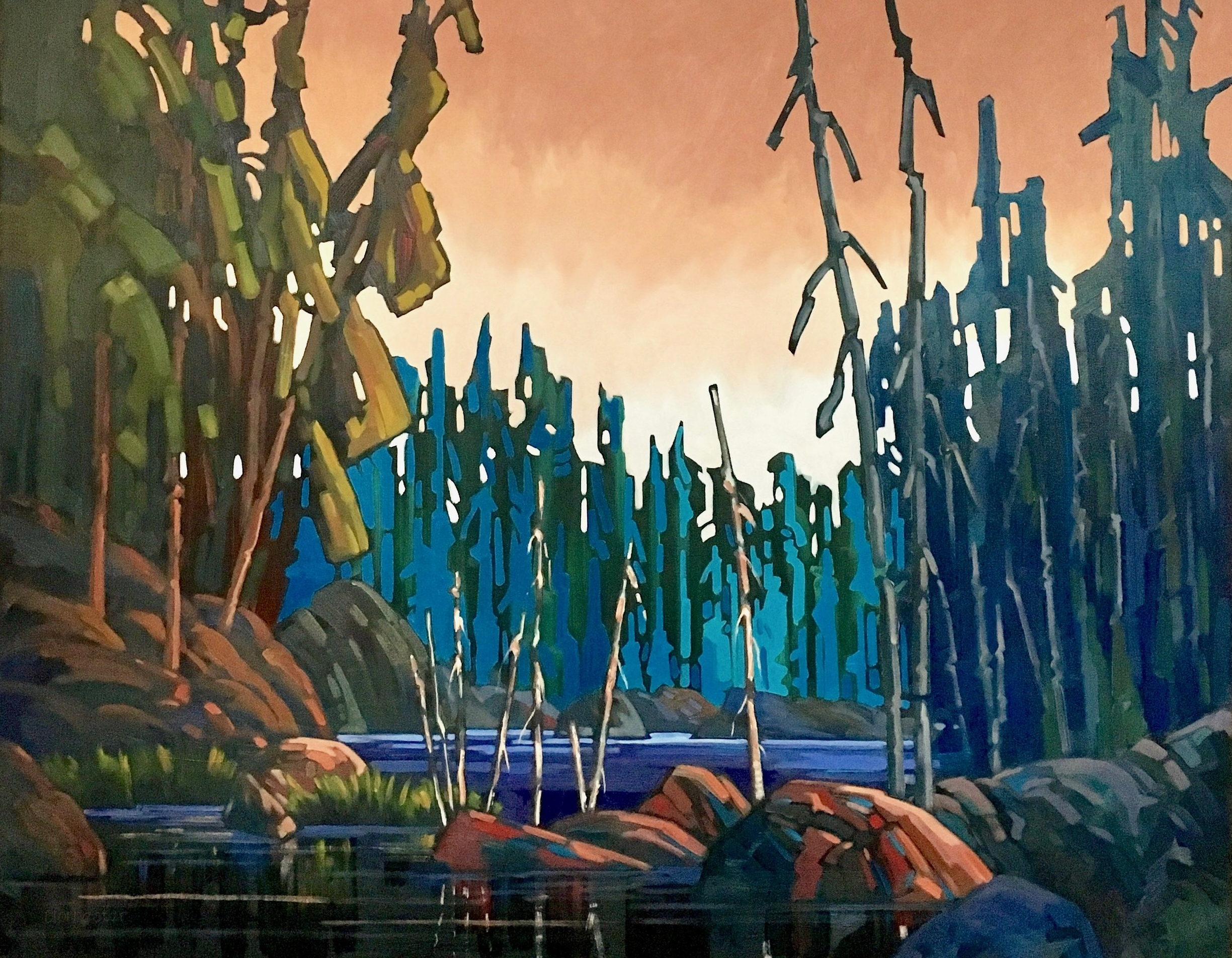 """Cam Forrester, """"Cypress"""", 48 x 60, Oil on Canvas"""