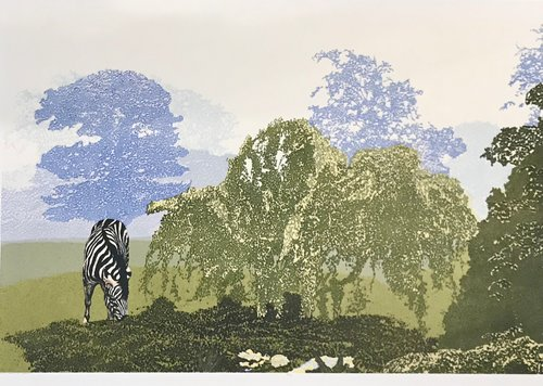 "Christopher Finn, ""Passage Through the Garden"", silkscreen, 25 x 38"", edition 22 of 25, 1984, $1,000.00 CAD"