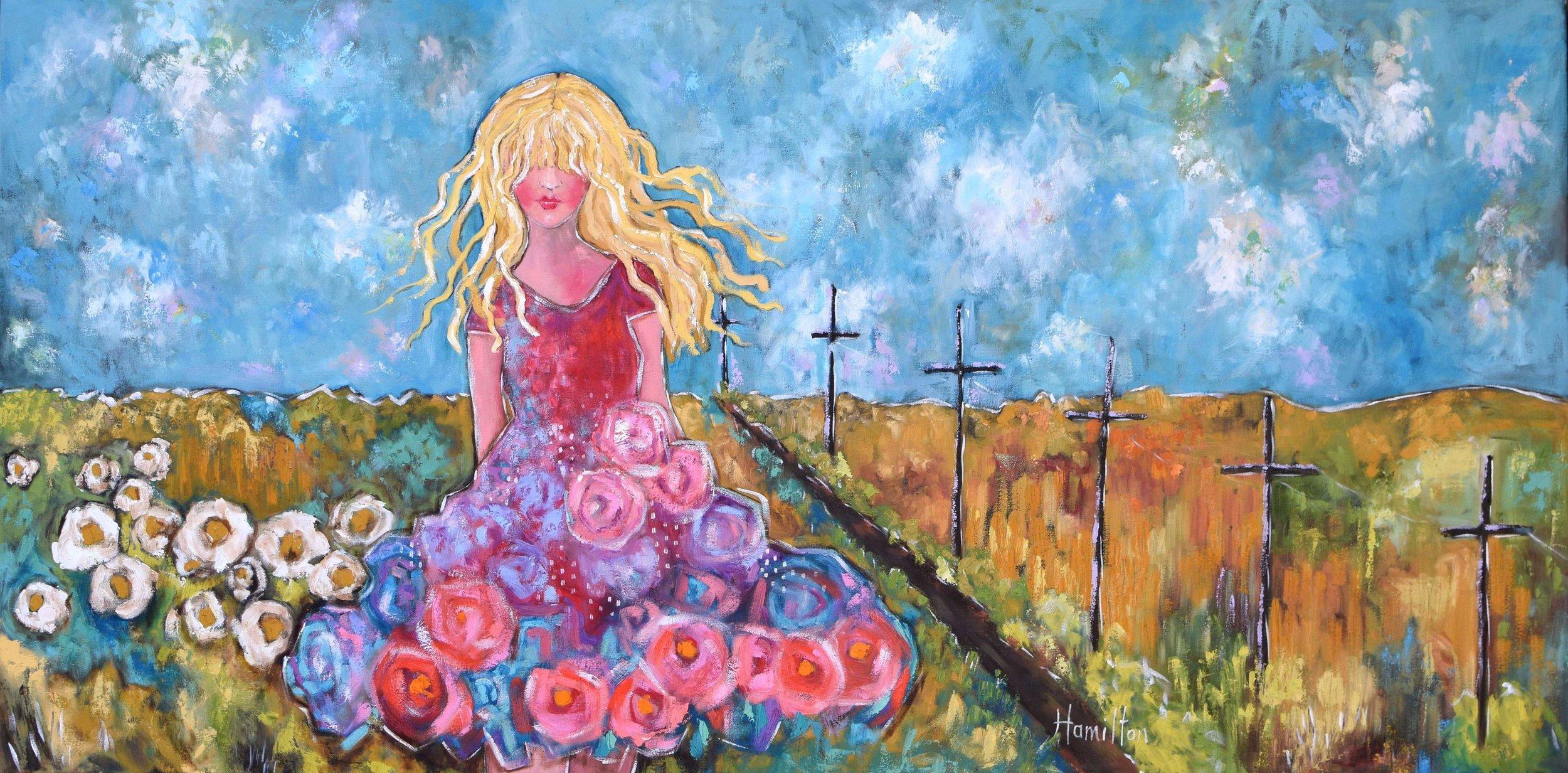 """Laura Hamilton, """"Wendelene"""", oil, 24x48, $2,040.00"""
