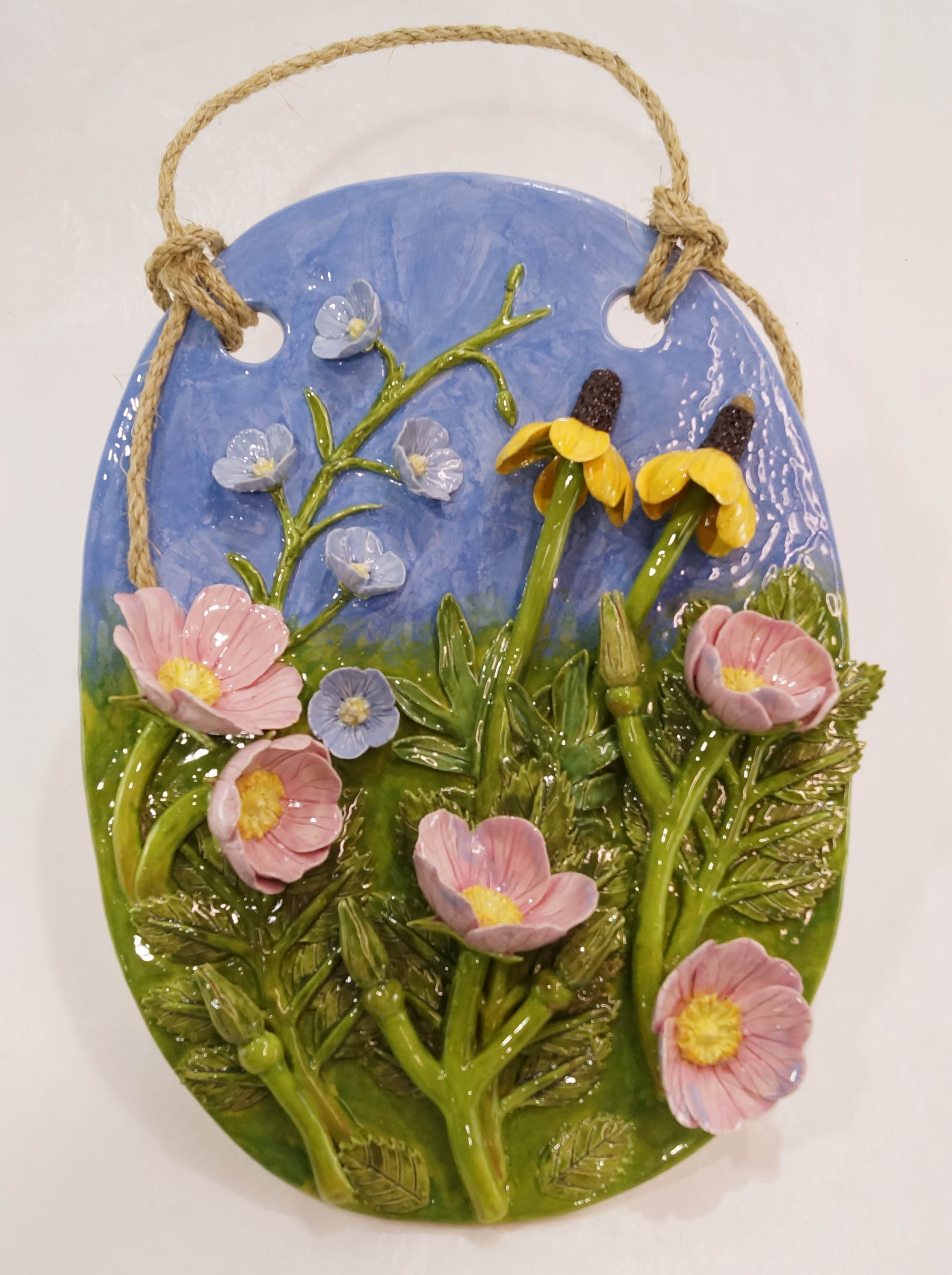 "Nicole Little, ""Grasslands Wildflowers"", ceramic, $380"
