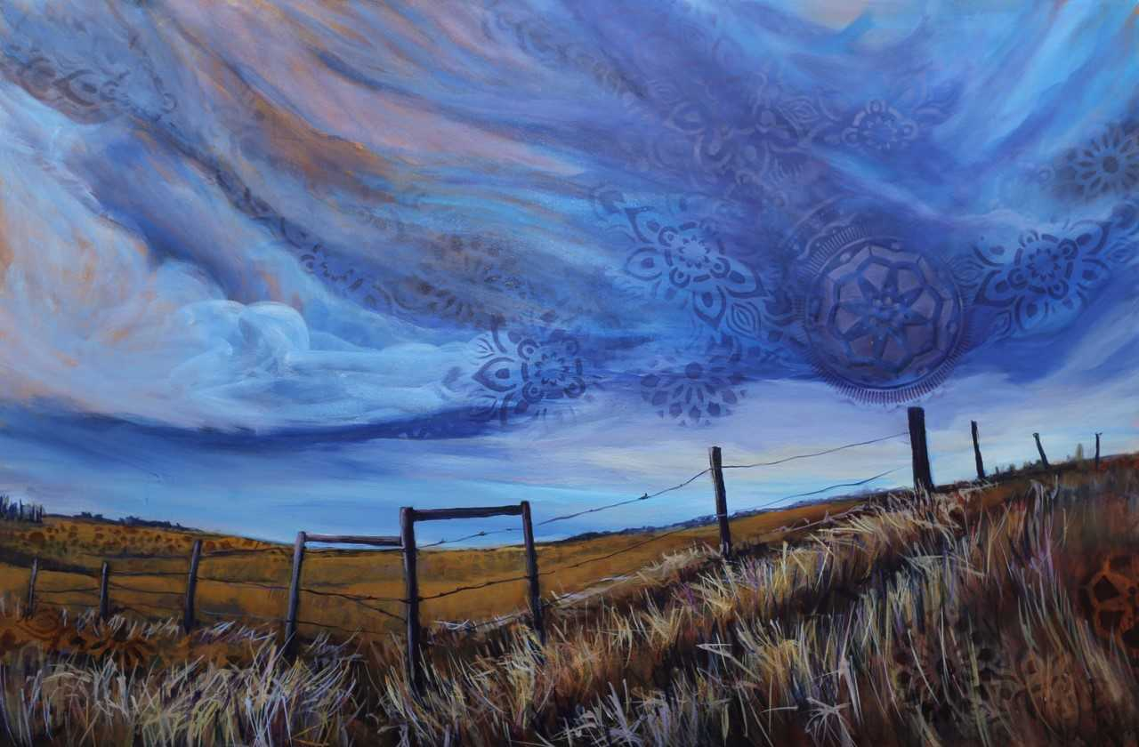 "Diane Larouche-Ellard, Sky Song, 36x24"" acrylic on canvas, $890"