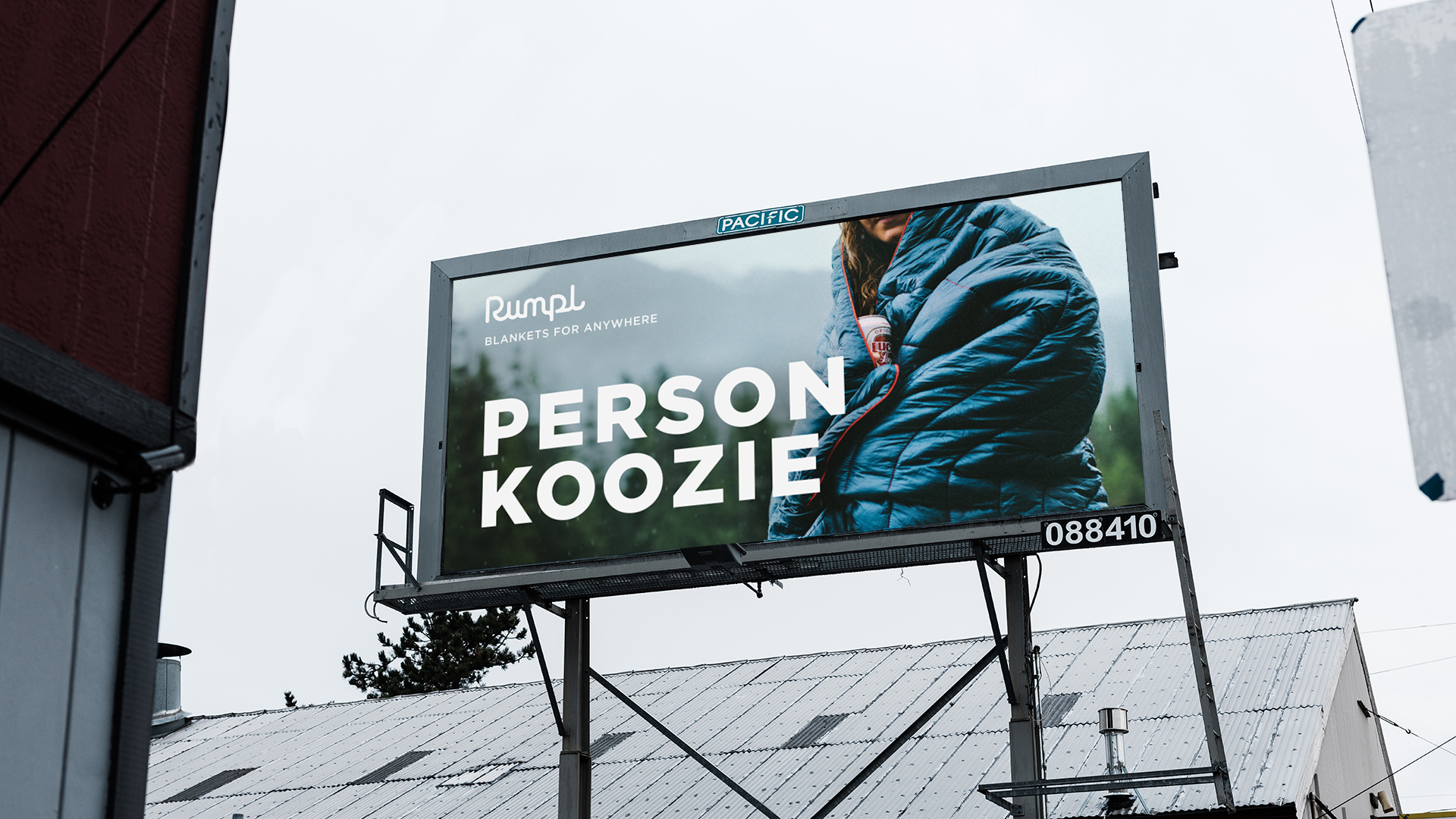 Billboard campaign for a modern blanket that's somewhere between a sleeping bag and a puffy jacket. (Writer)