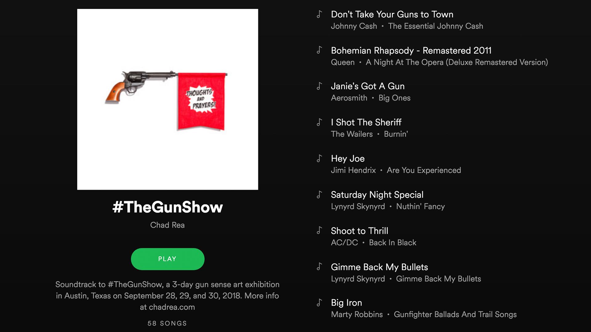 #TheGunShow Spotify Playlist