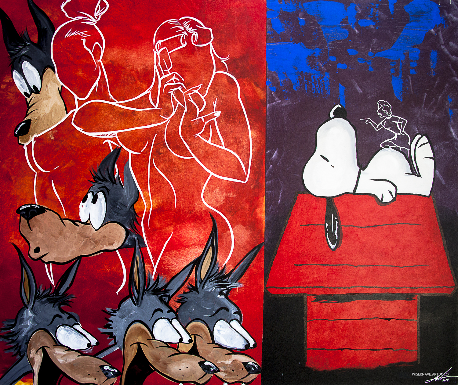 Artwork by Treason Gallery artist Jay West. Contemporary fine art in Pioneer Square Seattle, WA. Documentation by  WISEKNAVE