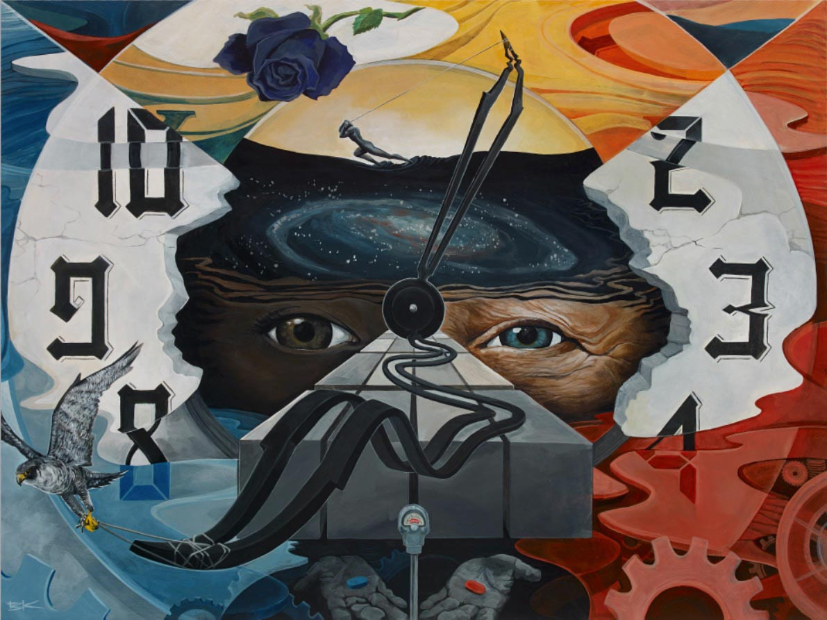 Artwork by Treason Gallery artist BK The Artist. Contemporary fine art in Pioneer Square Seattle, WA.