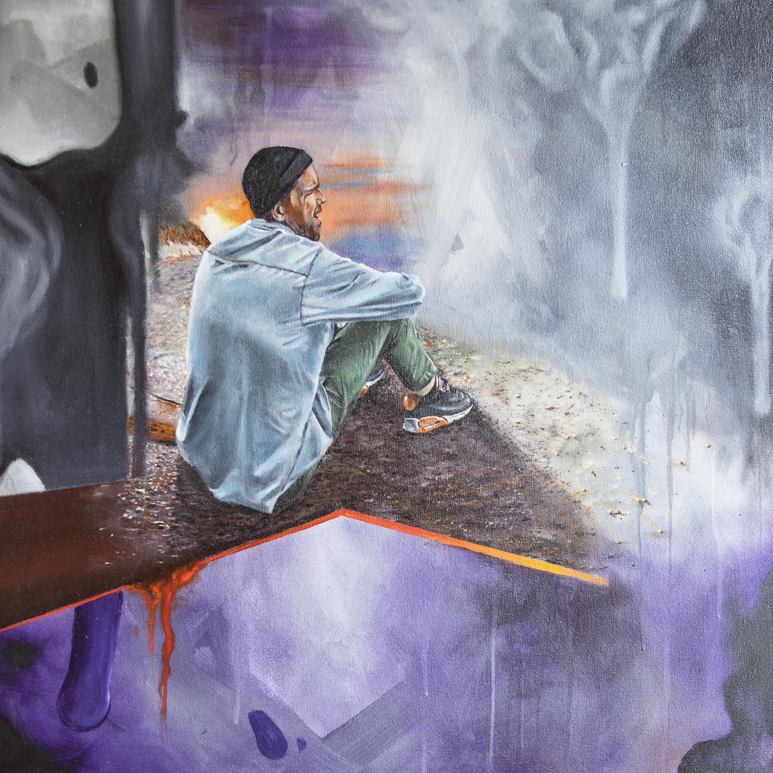 WISEKNAVE documentation for fine artist Joe Nix, Common Ground at Treason Gallery. First Thursday art walk in Pioneer Square, Seattle, WA. March, 2016 Joe Nix | WISEKNAVE.ARTDOC©