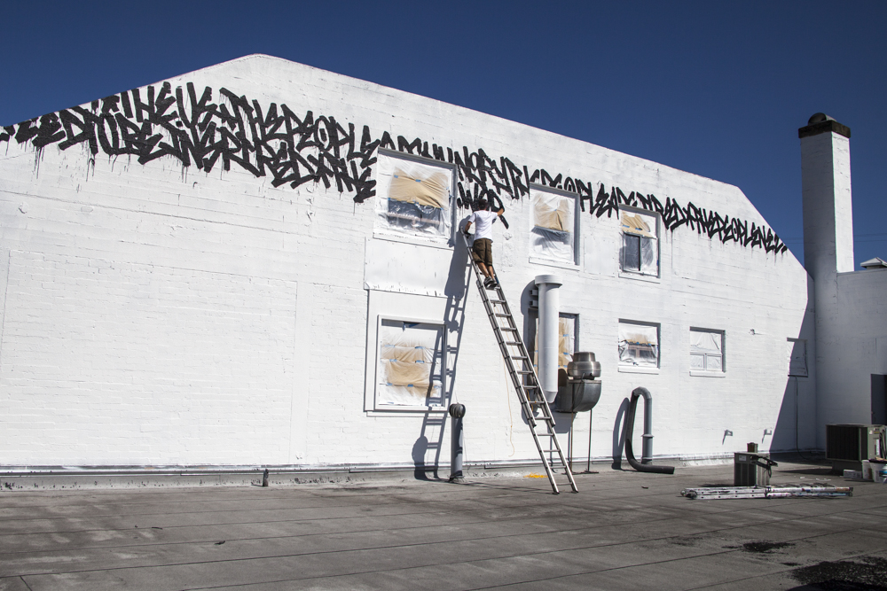 WISEKNAVE Fine Art Documentation for the Treason Gallery curated walls for the Richmark Label Builing on Capitol Hill in Seattle, WA 2016. Bisco Smith. Brought to you by by Art Primo & Urban Artworks