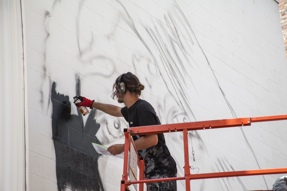 WISEKNAVE Fine Art Documentation for the Treason Gallery curated walls for Jupiter Bar on Belltown in Seattle, WA 2016. Drew Merritt. Brought to you by by Art Primo