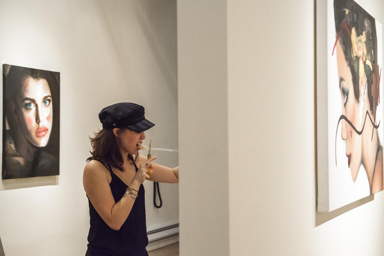 Dessie Jackon's Installation of 'Contour' at Treason Gallery