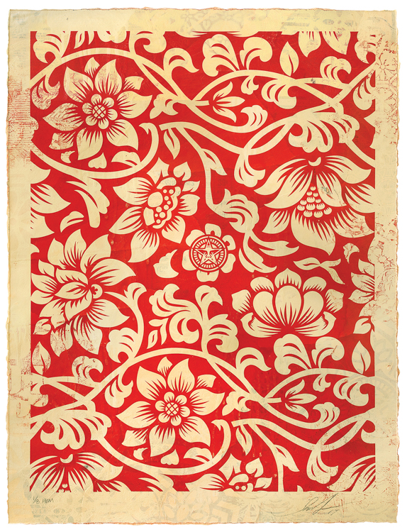 Copy of Floral Takeover (Cream/Red), 2017