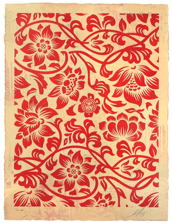 Copy of Floral Takeover (Red/Cream), 2017