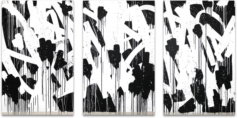 Bisco Smith - FLOWERS (triptych), 2018
