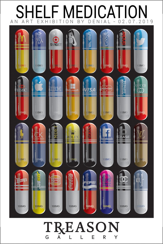 Shelf Medication - Denial - Treason Gallery - flyer -1