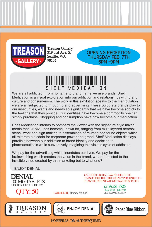Shelf Medication - Denial - Treason Gallery - flyer -2