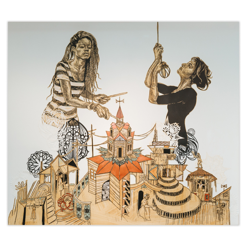 Swoon - Music Box / Aba and Caitlin I, 2018