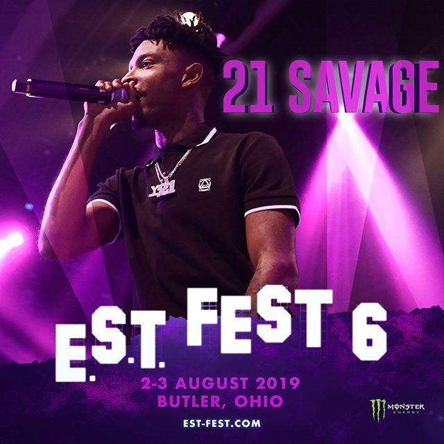 21 21 21!!! Issa vibe all weekend 🔥🔥 #estfest #estfest6 #saintlaurentdon #IAmIWastour #21savage 