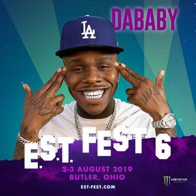 Just know 🔥 the turn up when @dababy hits the #fEST stage is about to be crazy😵🚀🗣️ #dababy #goinbaby #estfest #ohio #mood #hypeaf