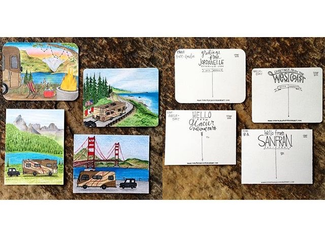 Custom Traveling Postcards