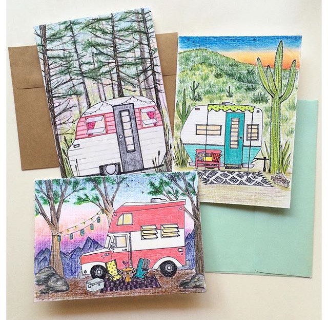Custom Camper Note Cards