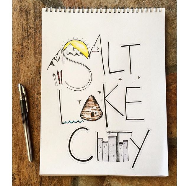 Salt Lake City Typography