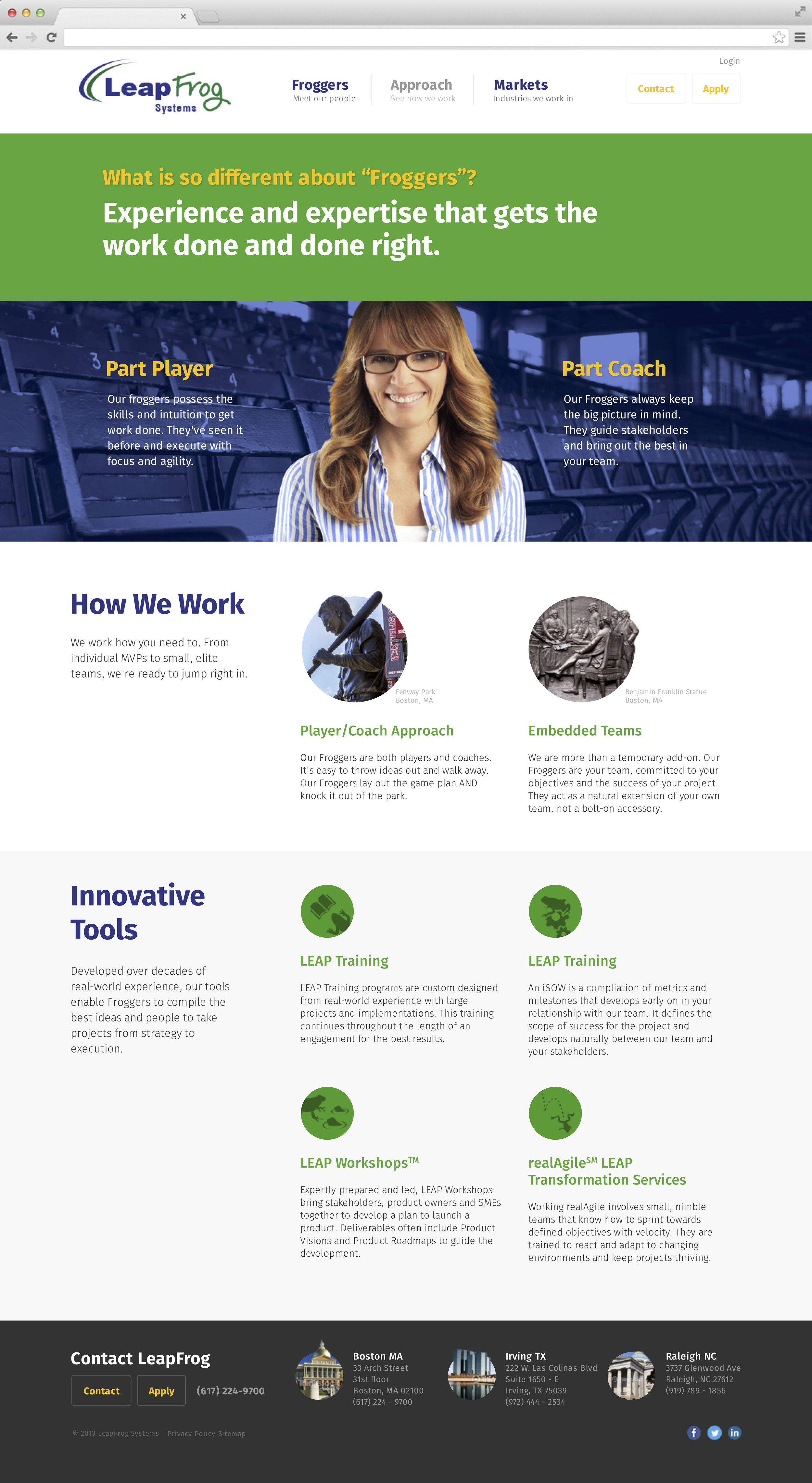 LeapFrog Systems Approach Page