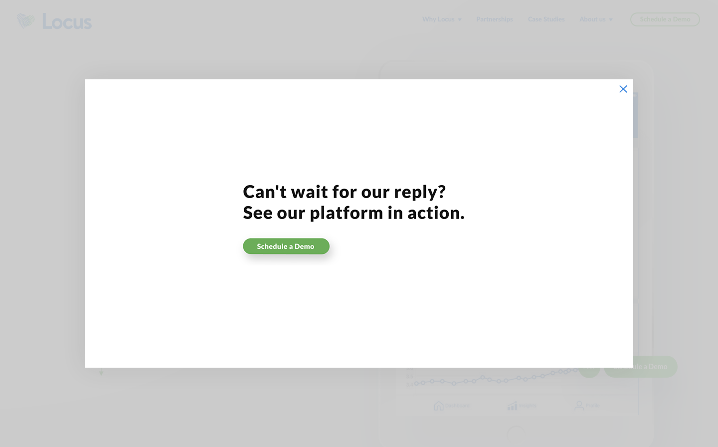 Success message pushing users to schedule a demo.