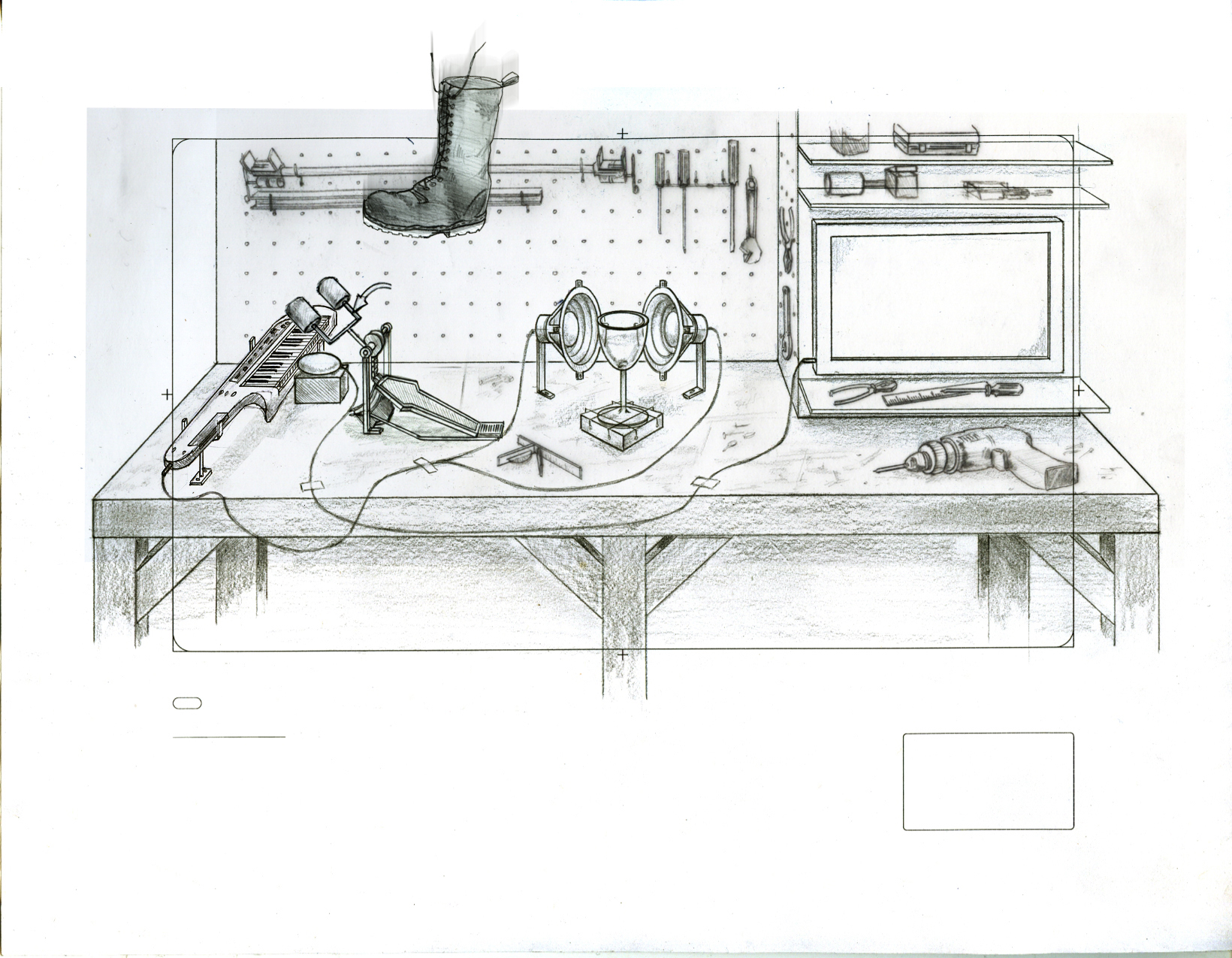 Rube-Goldberg concept  developed with director Aaron Duffy. Tells the story of the race between a new Chrome browser and a falling boot as documented by a very fast camera.