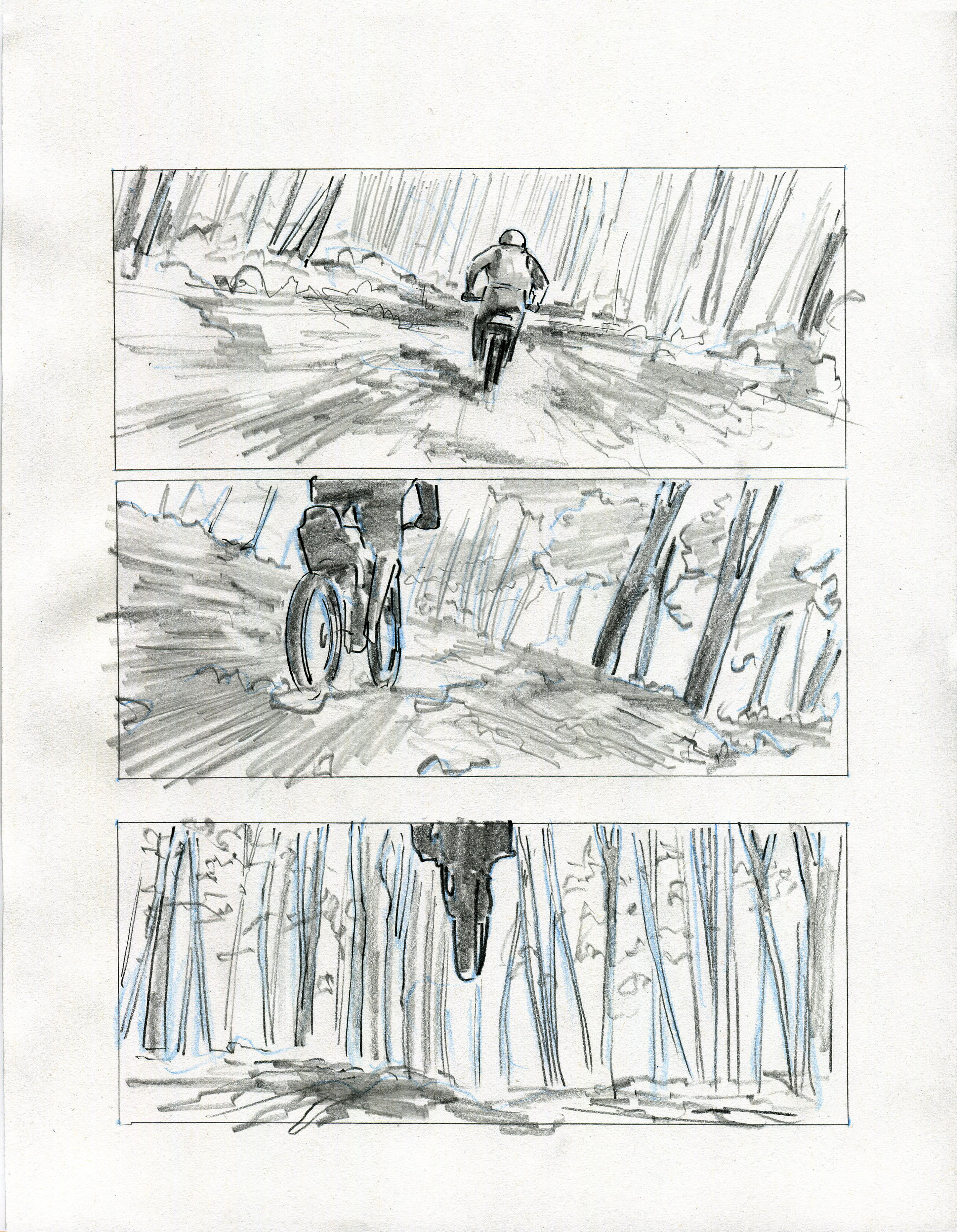 Action sequence  boards for a commercial directed by Rupert Wyatt, director of  Rise of the Planet of the Apes .