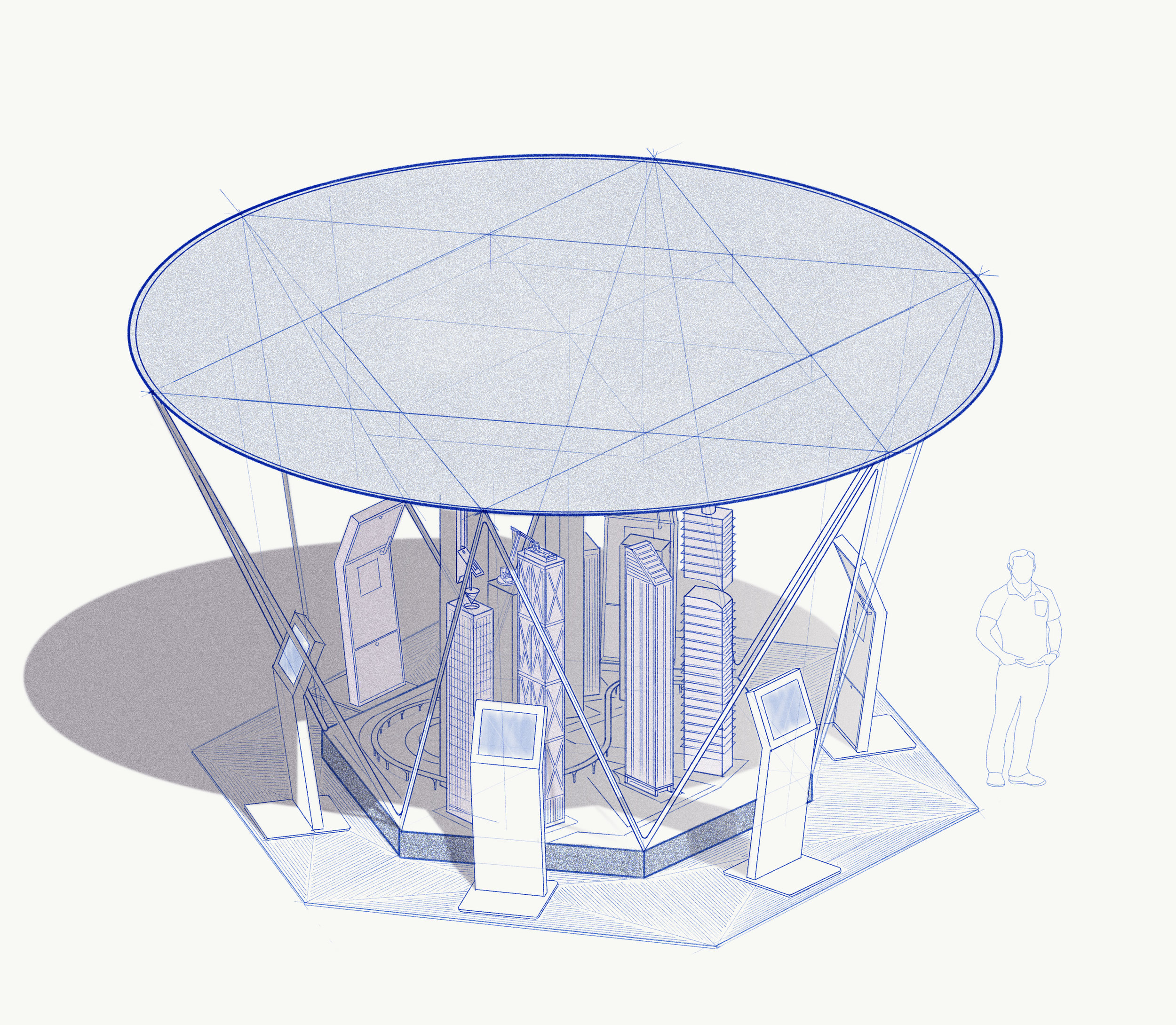Concept design  for experiential proposal.