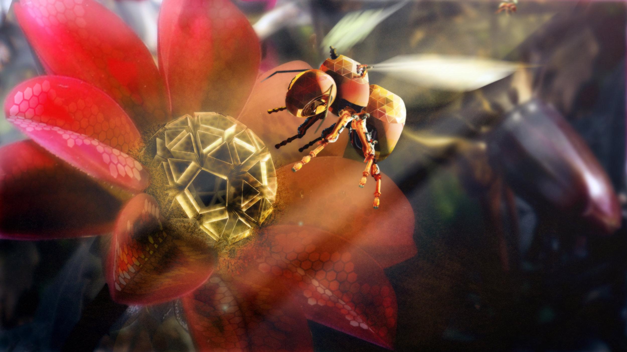 Photoshop concept  bee-bot.