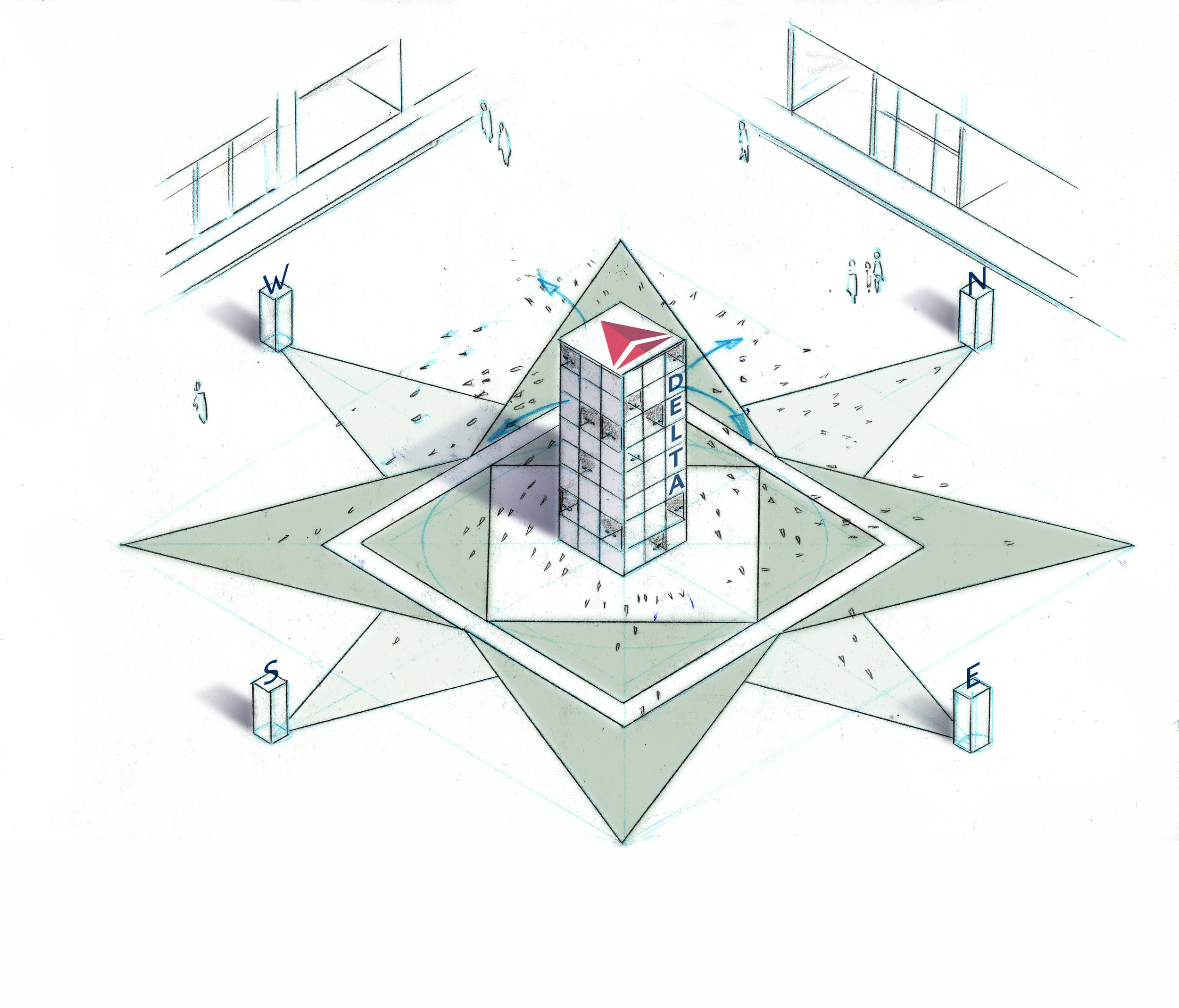 Isometric  showing design, scale, and context.