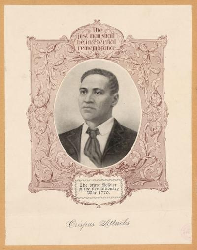Crispus Attucks. ca. 1897. Image. Retrieved from the Library of Congress, <https://www.loc.gov/item/2004677546/>.