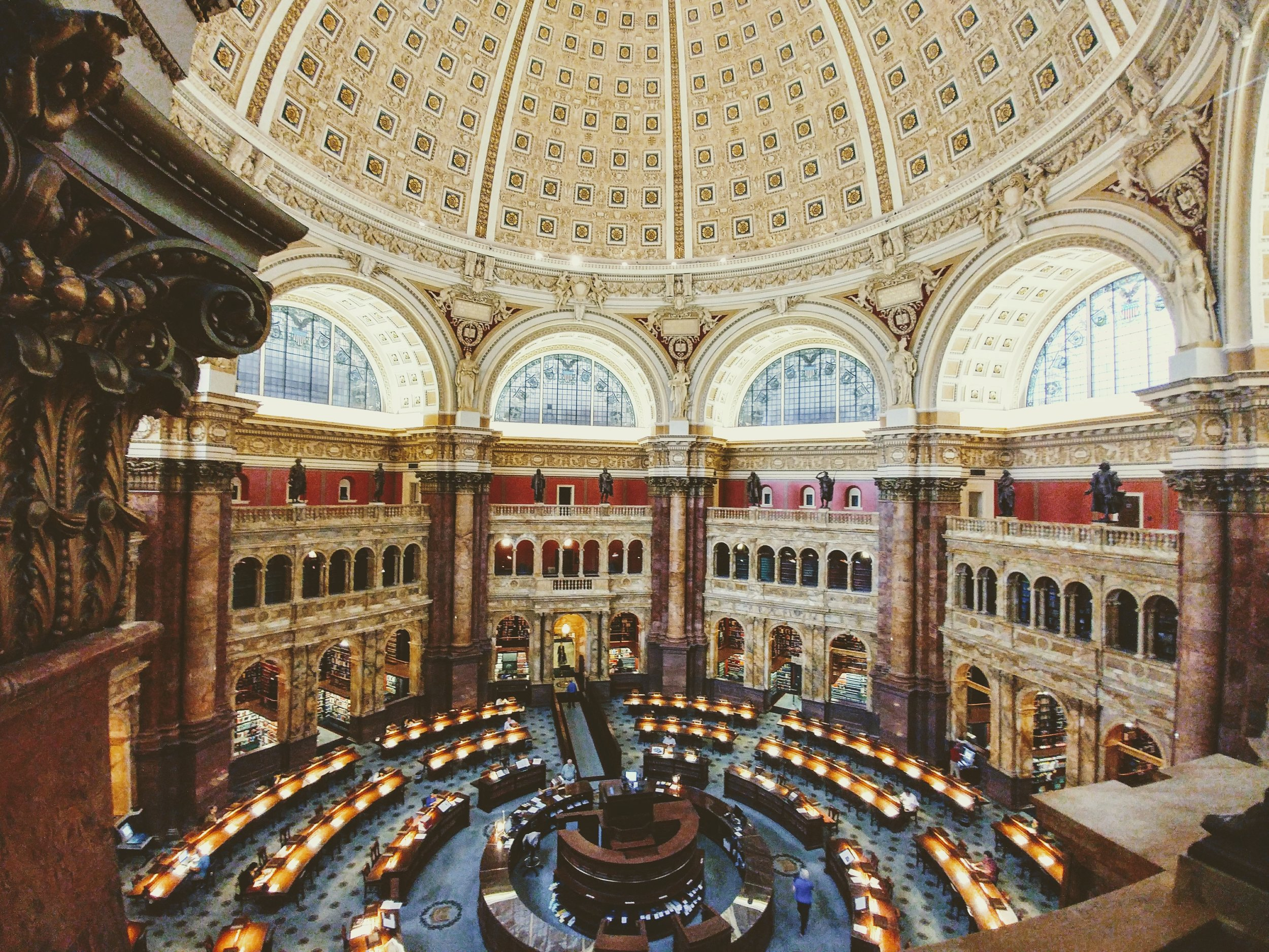 Add a visit to the historic Library of Congress to your tour.