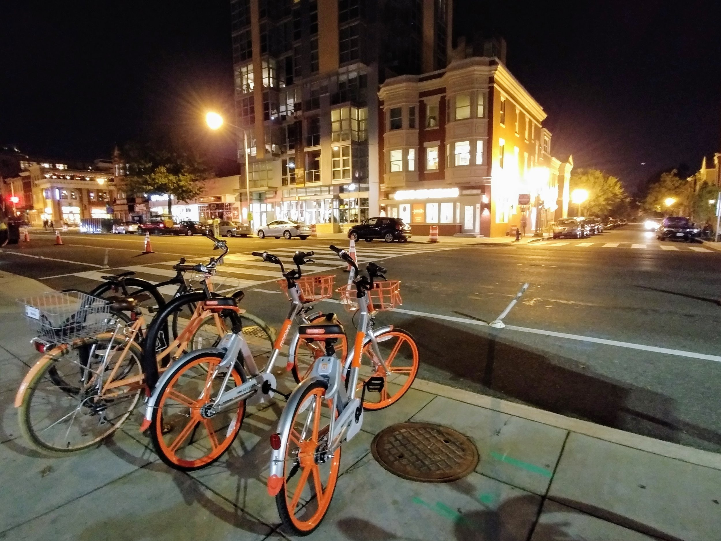 Shared bikes near U Street NW.