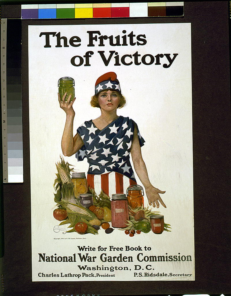 The Fruits of Victory  by Leonebel Jacobs. c. 1918.  Source:  Library of Congress Prints & Photographs Online Catalog. Accessed October 10, 2017 .
