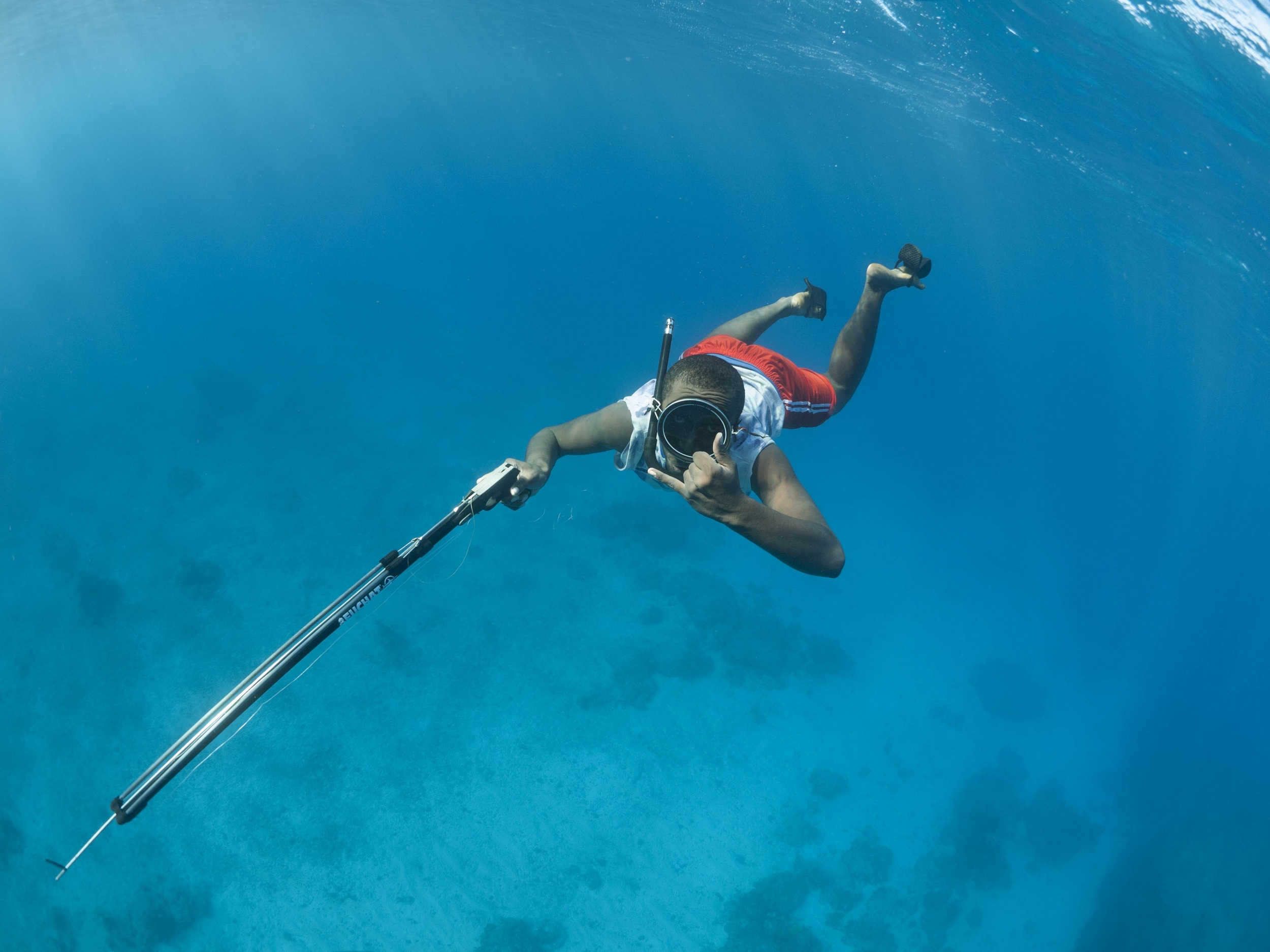 Local villager spearfishing off the island of Espiritu Santo, Vanuatu. Photo: Clark McNulty  We are one day into the   2nd Annual Kirk McNulty White Seabass Spearfishing Tournament  . The tournament runs through MaY 31, 2015.   A $10 entry is required prior to spearing a fish . Register   here .  Winners will be chosen by Top 3 Biggest Fish! Awards Party held in June at Body Glove Headquarters in Redondo Beach.  The proceeds will be donated to the White Seabass Hatchery Program led by  Hubbs-Seaworld  to help improve the WSB population on our coast.  In 2014, the inaugural contest was won by South Bay local Paul Hugoboom with a 72.70 pound white sea bass speared in local waters.  Follow us on  Instagram  and share your images #kirkspearo