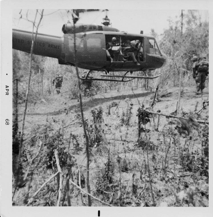 A typical C.A. (Combat Assault). The ground here was completely drenched in Agent Orange.