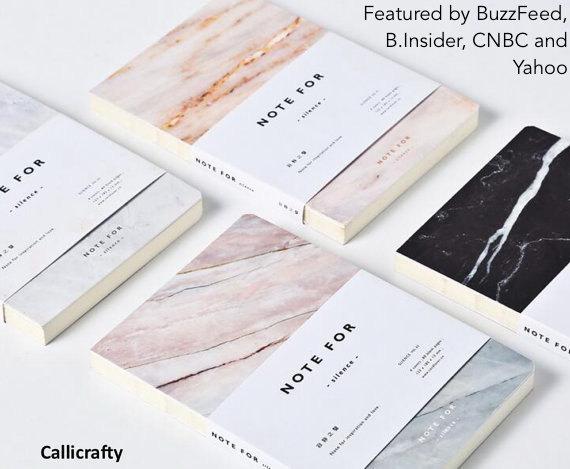 minimalist marble journal - Callicrafty