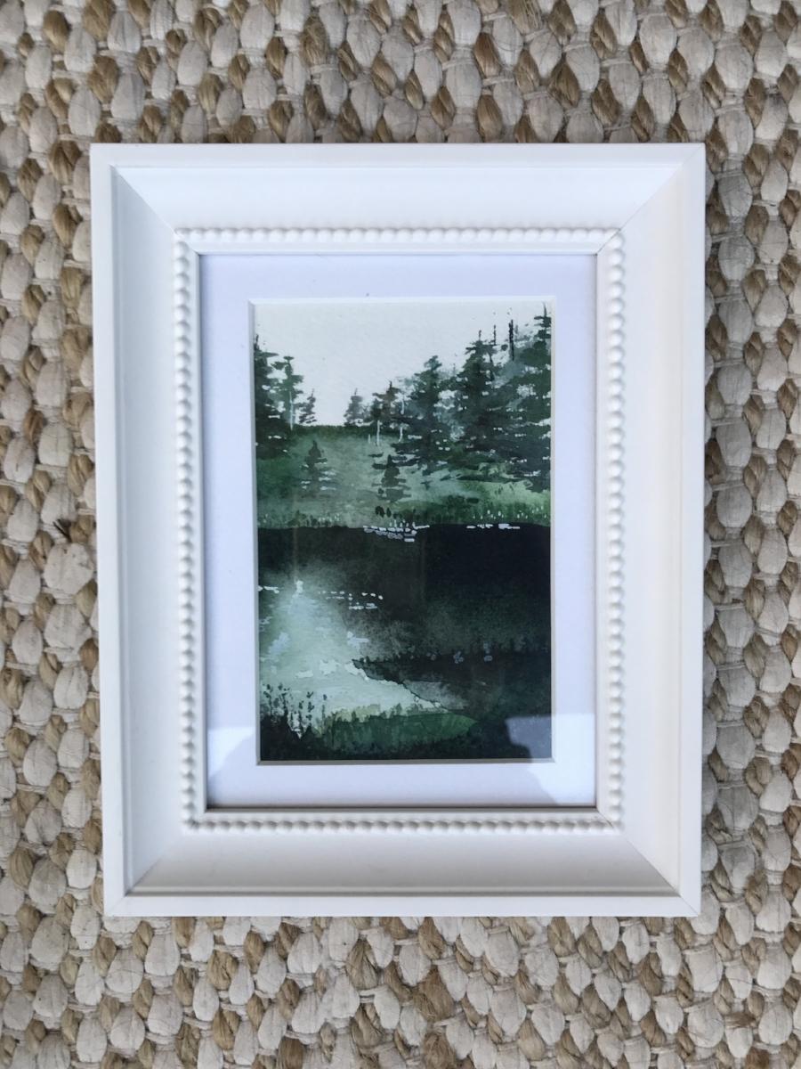 """shadowy landscape - 4x6"""" watercolor original"""