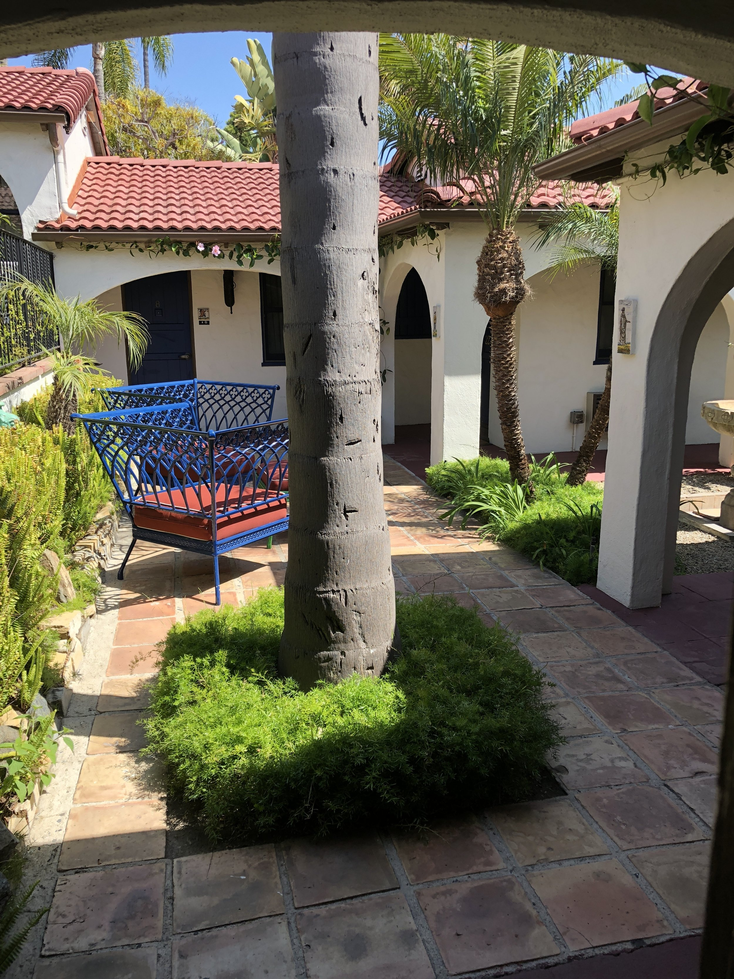 one of the many courtyards in casa laguna