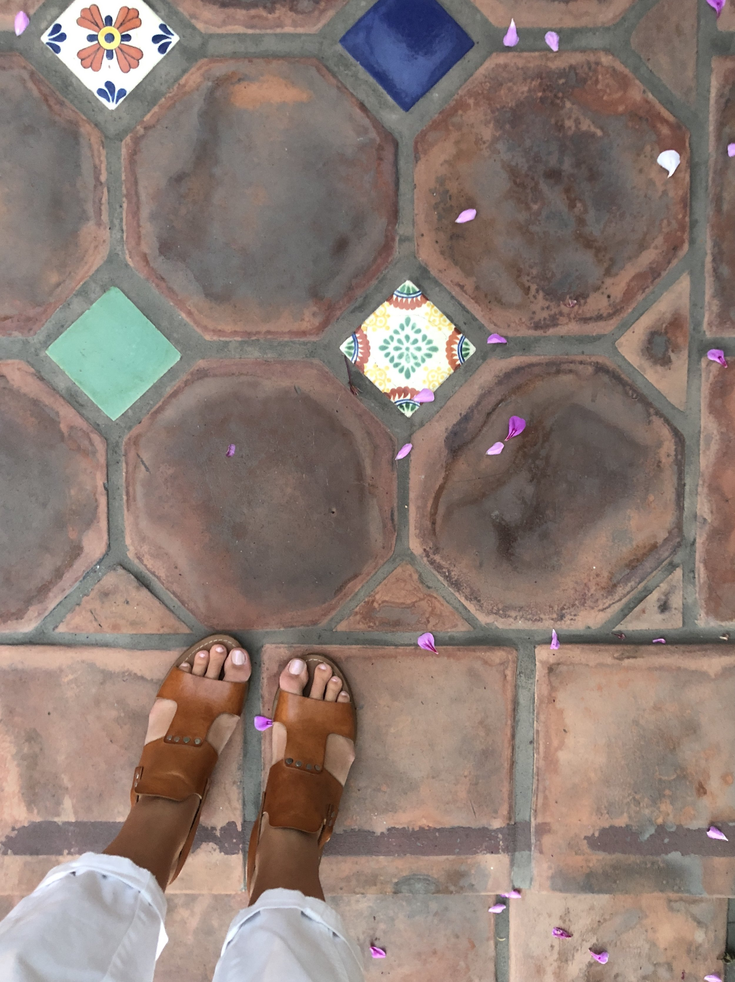 casa laguna's courtyard tiles