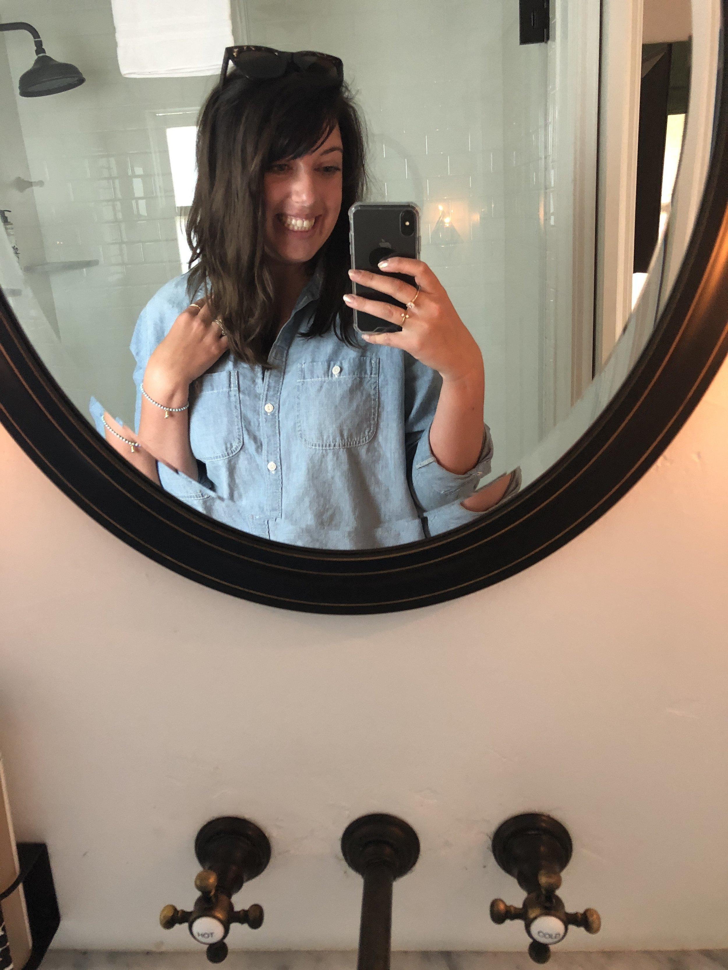 selfie in the bathroom mirror