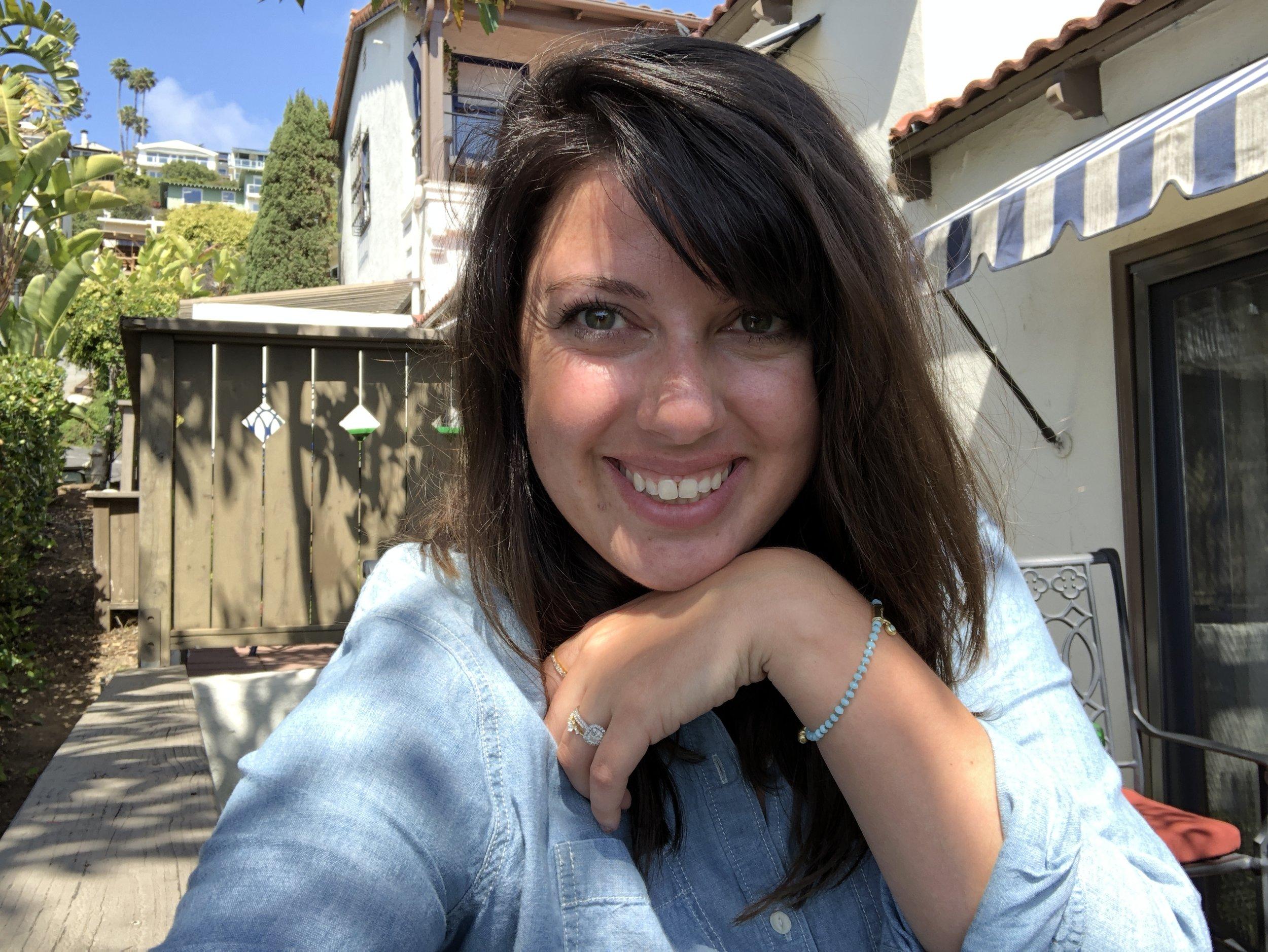selfie on the patio