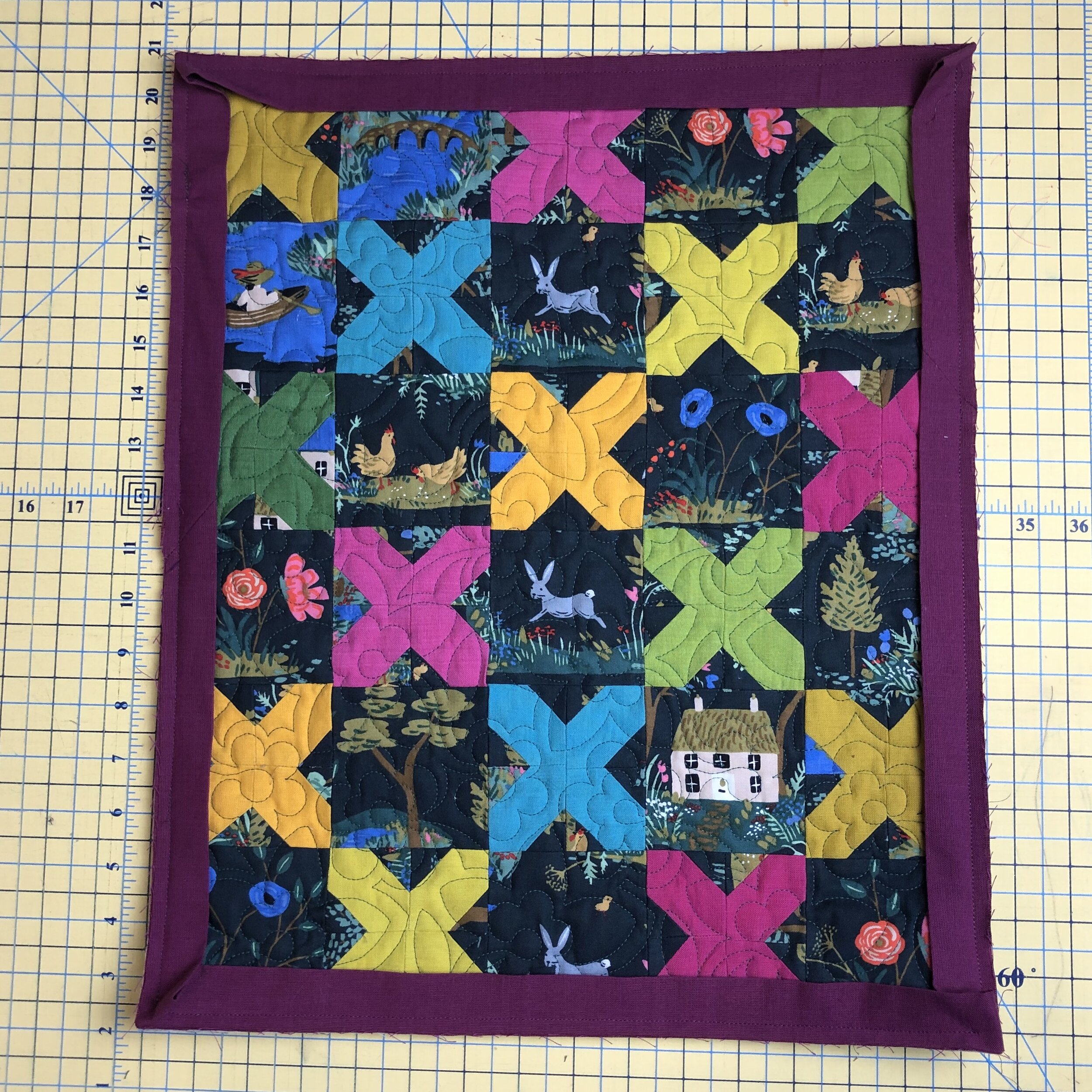 - 6. Bind as you would a regular quilt. Remove any basting stitches you can see.