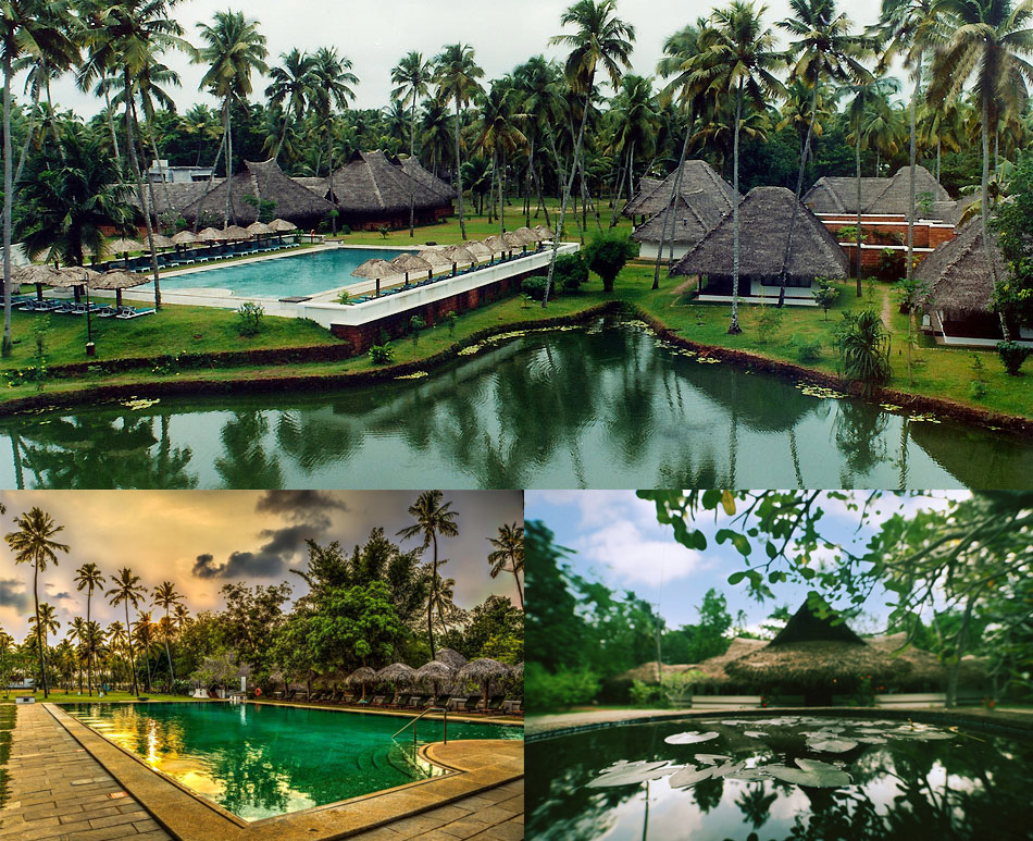 Marari Beach Resort   The sea-side village experience set on 30 acres with coconut groves, lily ponds, fruit trees and a large organic farm.  Our seaside resort, Marari beach in Mararikulam, is a tribute to the fisherfolk of this region who populate it's spirit in obvious and subtle ways. Our guest cottages echo their dwellings in style and character while our cuisine reflects the culinary subtleties of these people whose sensibilities and culture have been influenced by the charms and challenges of the oceans.