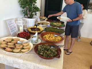 Lunch is served. Kava Yoga Retreat. Puglia Italy 2019