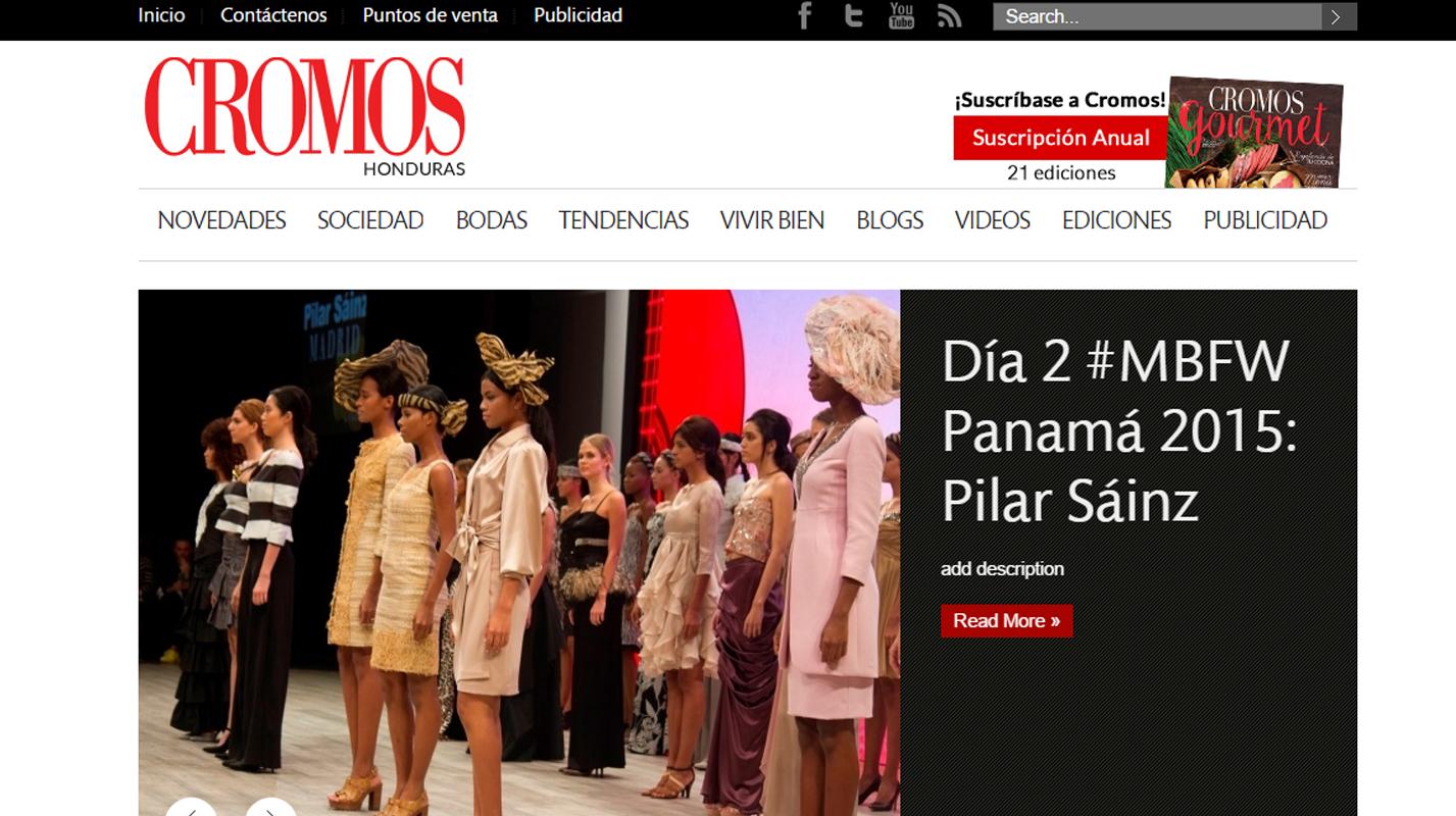 Cobertura de Fashion Week Panama para Cromos.hn
