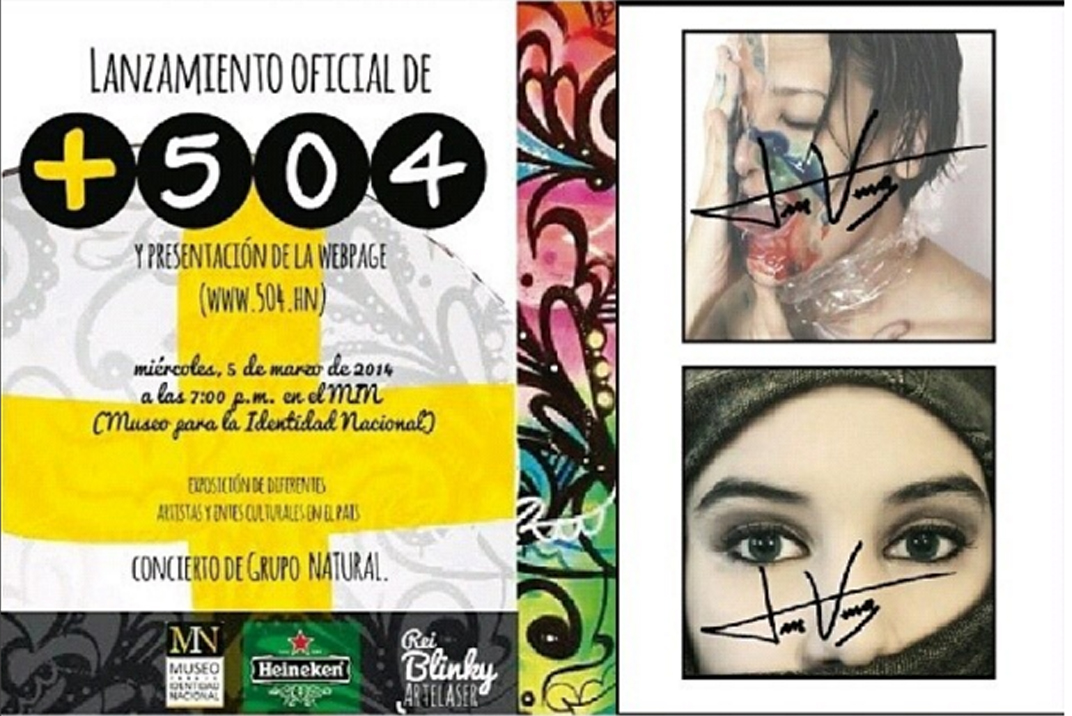 Exposicion para lanzamiento de +504 Revista